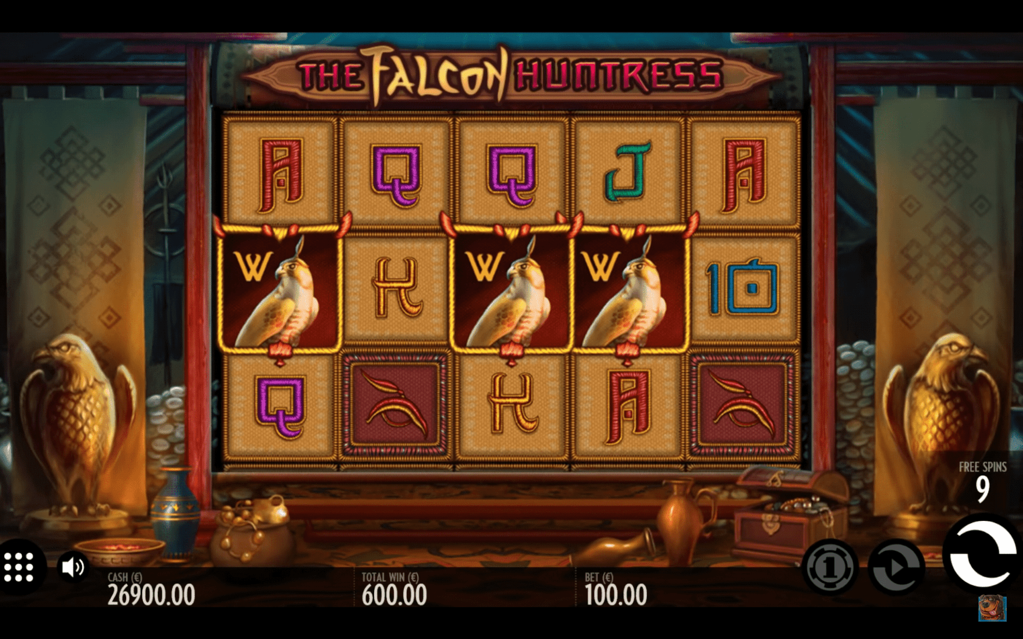 Spielen Sie The Falcon Huntress Slot Machine im Betchaser Casino-3