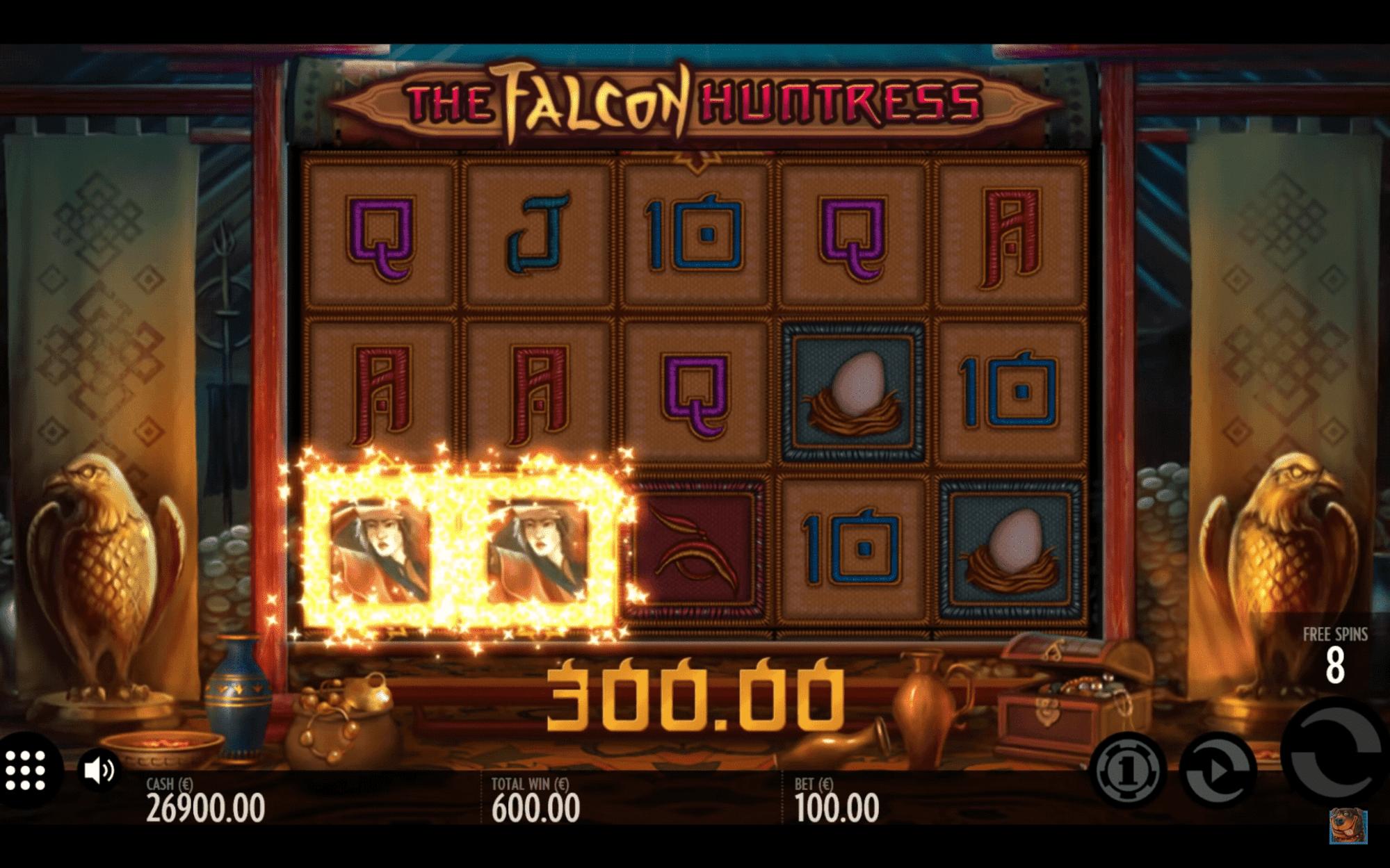Spielen Sie The Falcon Huntress Slot Machine im Betchaser Casino-2