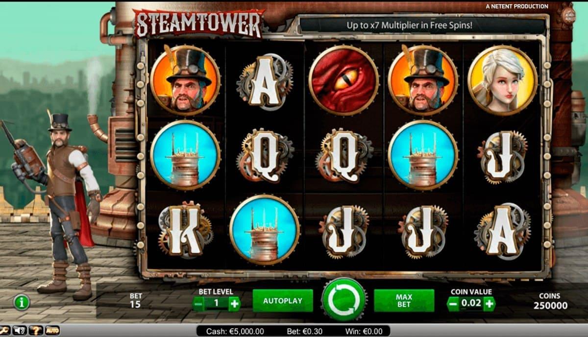 Spielen Sie Steam Tower Slot Machine im Betchaser Casino-1