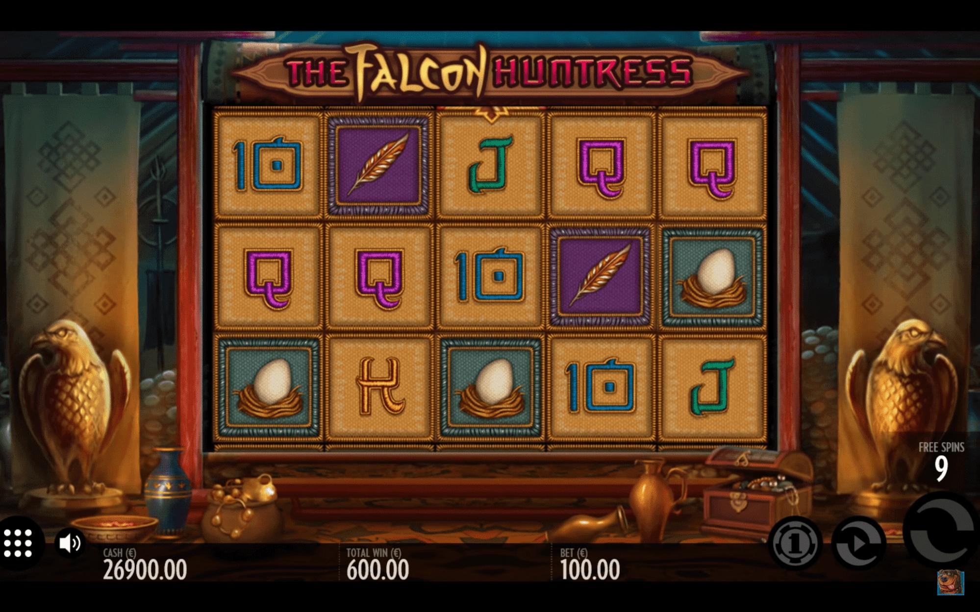 Spielen Sie The Falcon Huntress Slot Machine im Betchaser Casino-1